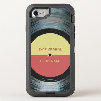 Efecto del expediente de negro vinilo funda OtterBox defender para iPhone 7
