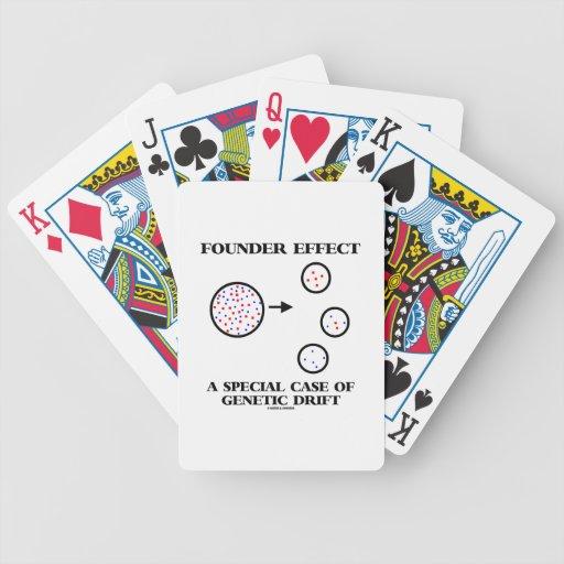 Efecto del fundador un caso especial de deriva gen baraja cartas de poker