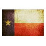 Efecto del Grunge de la bandera de Tejas Tarjeta Personal