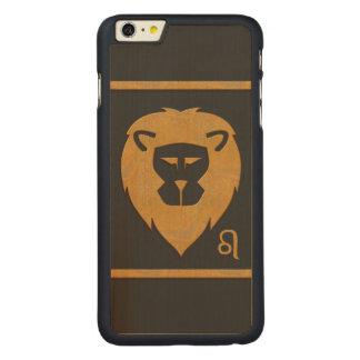 Efecto del mármol de la cabeza del león del funda de arce carved® para iPhone 6 plus slim