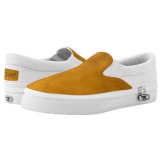 Efecto del oro viejo con textura del remolino zapatillas