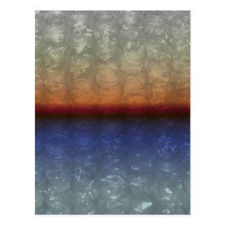 Efecto del plástico de burbujas de la salida del s postales