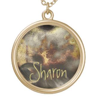Efecto del polvo de estrella del oro y de la plata collar personalizado