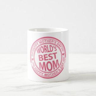 Efecto del sello de goma del día de madre taza