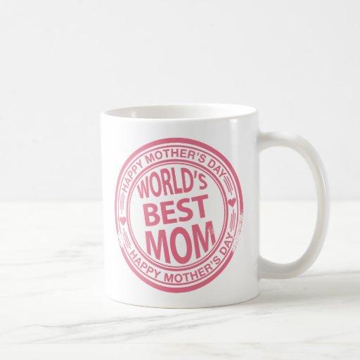 Efecto del sello de goma del día de madre tazas