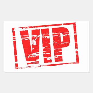 Efecto del sello de goma del VIP Rectangular Pegatina
