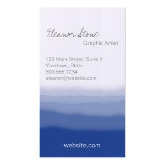 Efecto del tinte de la inmersión tarjetas de visita