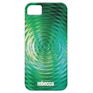 Efecto dominó verde iPhone 5 fundas