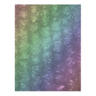 Efecto en colores pastel del plástico de burbujas tarjeta postal
