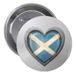 Efecto escocés del acero inoxidable de la bandera  pin