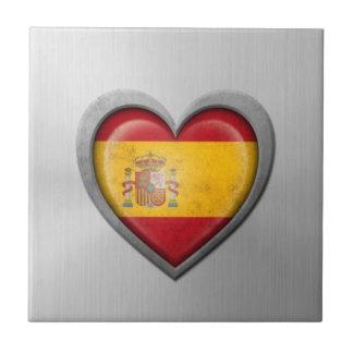 Efecto español del acero inoxidable de la bandera  teja  ceramica