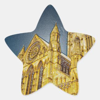 Efecto especial de la iglesia de monasterio de pegatina en forma de estrella