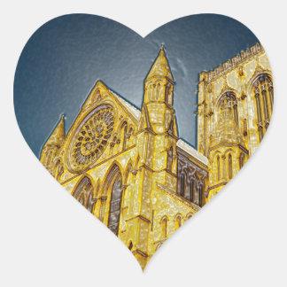 Efecto especial de la iglesia de monasterio de calcomanías corazones personalizadas