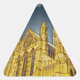 Efecto especial de la iglesia de monasterio de pegatina triangulo