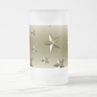 Efecto estrellado del metal de la chispa del taza de cristal