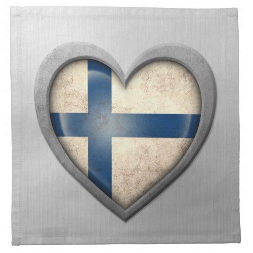 Efecto finlandés del acero inoxidable de la bander servilletas de papel