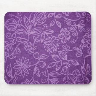 Efecto floral púrpura del paño tapete de ratones
