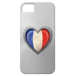 Efecto francés del acero inoxidable de la bandera  iPhone 5 Case-Mate coberturas