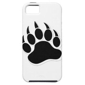Efecto gay impresionante de la garra de oso B&W 3D iPhone 5 Protectores