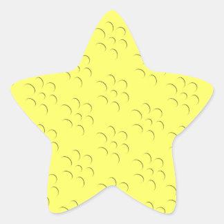 Efecto grabado en relieve flor manchada de Brights Calcomanías Forma De Estrellas
