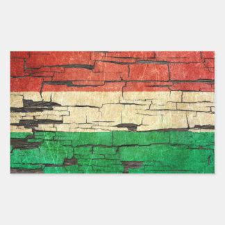 Efecto húngaro agrietado de la pintura de la rectangular pegatina