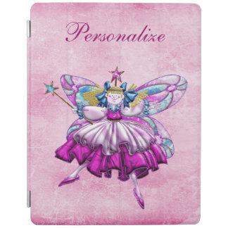 Efecto impreso hada rosada linda de la joya del cubierta de iPad