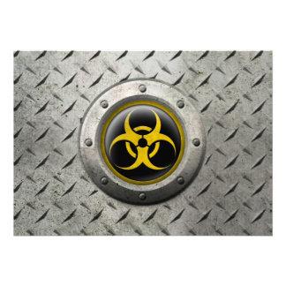 Efecto industrial amarillo y negro del acero del B