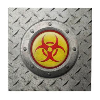 Efecto industrial amarillo y rojo del acero del azulejos