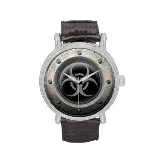 Efecto industrial gris y negro del acero del Bioha Relojes De Mano