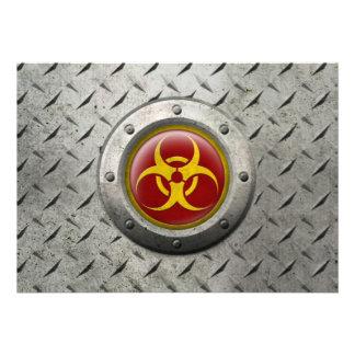 Efecto industrial rojo y amarillo del acero del Bi