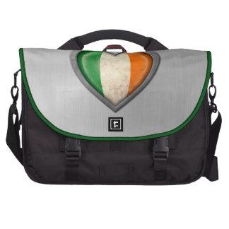 Efecto irlandés del acero inoxidable de la bandera bolsas de portatil