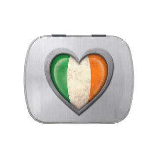 Efecto irlandés del acero inoxidable de la bandera frascos de dulces