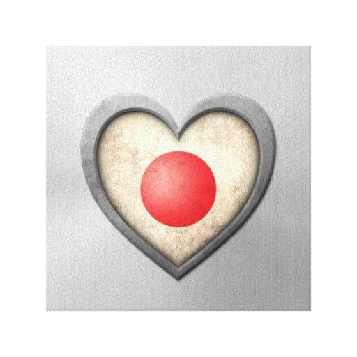 Efecto japonés del acero inoxidable de la bandera  impresion en lona