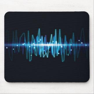 Efecto luminoso de la onda audio abstracta borrosa tapete de ratones