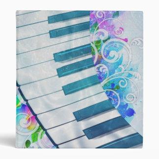 """Efecto luminoso del piano circular azul fresco carpeta 1"""""""