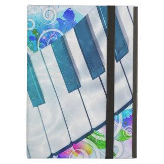 Efecto luminoso del piano circular azul fresco imp