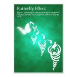 Efecto mariposa - postal invitación personalizada