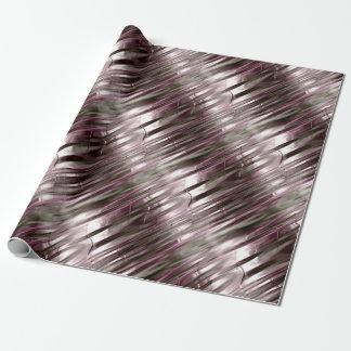 Efecto metálico color de rosa y del oro papel de regalo