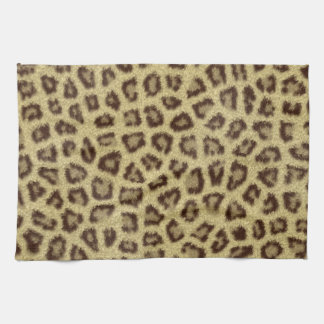 Efecto mullido de la piel de la piel del leopardo  toalla de cocina