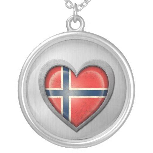 Efecto noruego del acero inoxidable de la bandera  joyeria personalizada