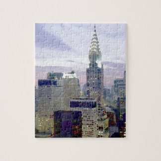 Efecto Nueva York de la pintura de aceite del arte Puzzle