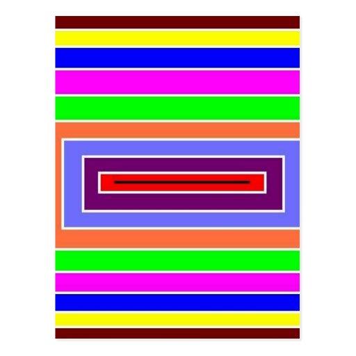 Efecto óptico colorido postal