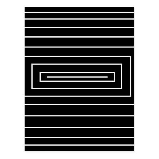 Efecto óptico negro y blanco postal