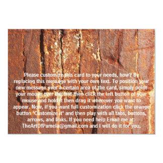 """Efecto oxidado del metal (producto no metálico) invitación 5"""" x 7"""""""
