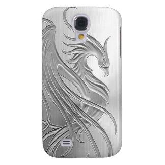 Efecto Phoenix del acero inoxidable Funda Para Galaxy S4