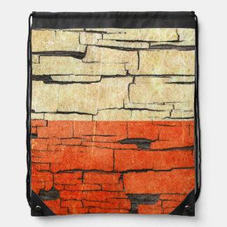 Efecto polaco agrietado de la pintura de la peladu mochilas