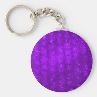 Efecto púrpura del plástico de burbujas llavero redondo tipo pin