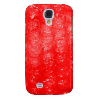 Efecto rojo brillante del plástico de burbujas