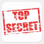 Efecto secretísimo del sello de goma pegatina cuadradas personalizada
