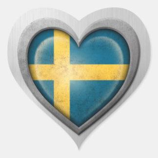 Efecto sueco del acero inoxidable de la bandera de pegatinas